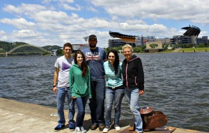 Together with some of my family in Pittsburgh