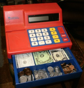 Our toy cash register